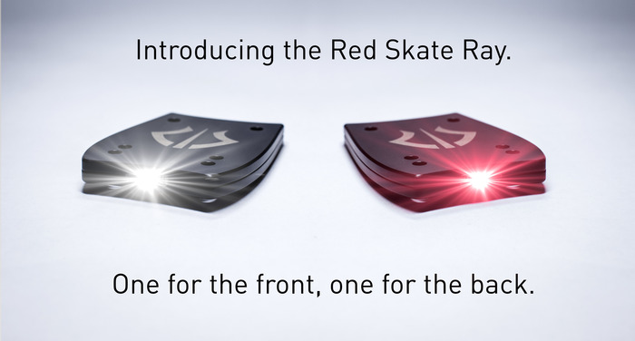 Skate Ray A Rechargeable Headlight For Your Skateboard