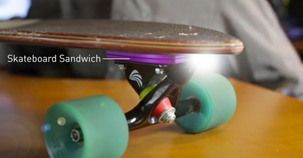 Skate Ray – a rechargeable headlight for your skateboard