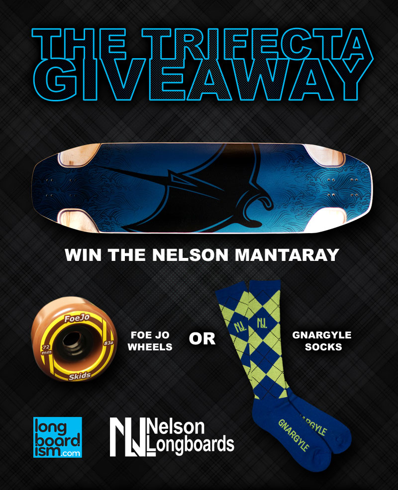 giveaway wheel the nelson longboards trifecta giveaway deck wheels and 7165