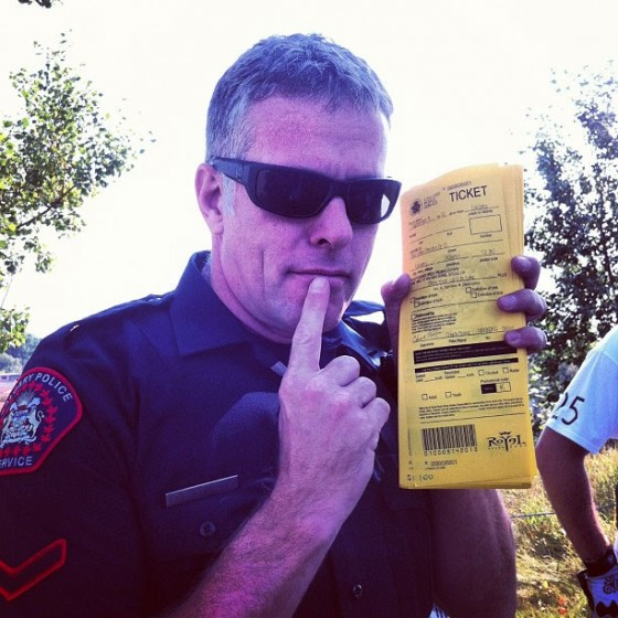 Constable Hughes is handing out tickets! Win $5 for every cool trick he sees!